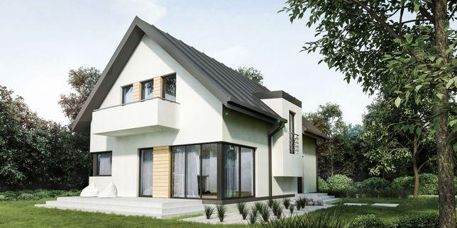 Dom energooszczędny,ekonomiczny,drewniany,szkieletowy,prefabrykowany