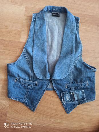 Jeansowa kamizelka M