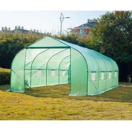 Estufa de Jardim ou Terraço  – Cor verde -600x300x200cm