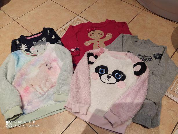 Ciepłe bluzy dla dziewczynki 110