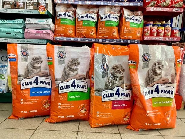 Сухой корм КЛУБ 4 ЛАПЫ для котов (14кг)
