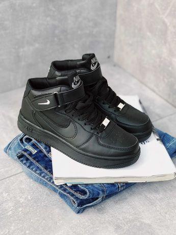 Хит! Кроссовки черные Nike Air Force Black  Найк Аир Форс 1