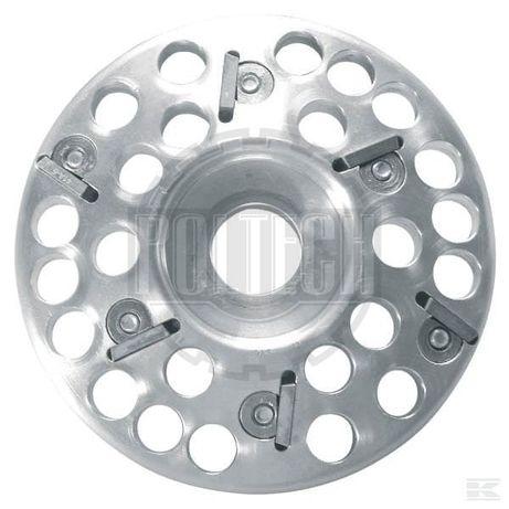 Tarcza do korekcji racic, aluminiowa, 6 ostrzy, 120 mm
