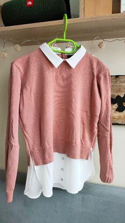 5szt zestaw bluzek swetró koszulek torba paczka ubrań ciuchów xs s