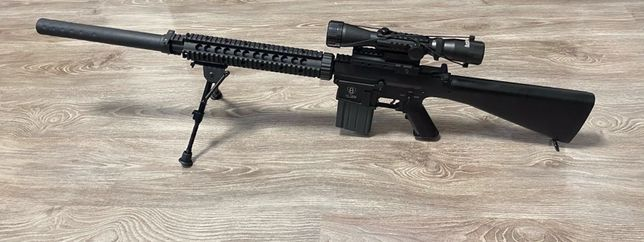 Снайперская винтовка SR-25 PJ25 [A&K] (страйкбольный привод)