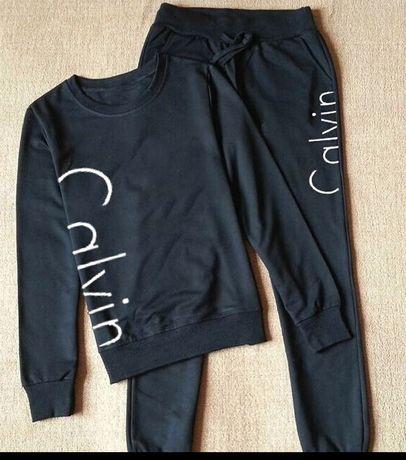 Nowy dres spodnie bluza Calvin Klein czarny S M