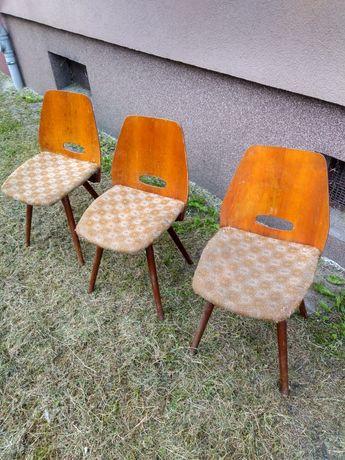 Krzesła projektu Jirak Czechosłowacja lata 60-te.
