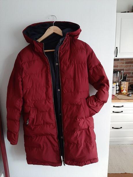 Kurtka zimowa płaszcz parka cropp 2w1 xs