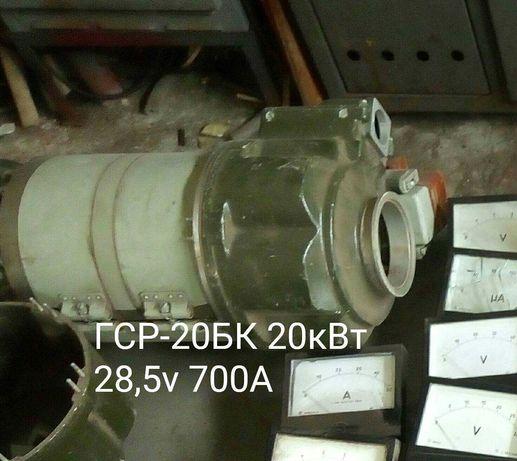 Генераторы постоянного тока, авиационные   ГСР-20бК