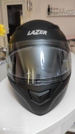 Kask motocyklowy szczękowy marki Lazer L 59-60 mocowanie do intercomu