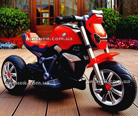 Детский мотоцикл M 3639 красный, электромобиль, Дитячий електромобiль