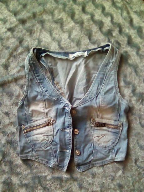 Kamizelka jeansowa zadbana