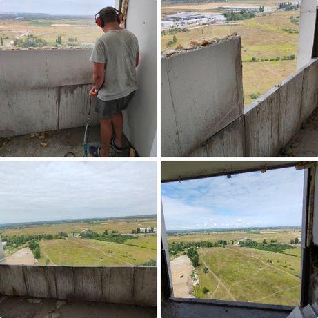 Демонтажные работы. Демонтаж стен, стяжки, укрепление стен металлом