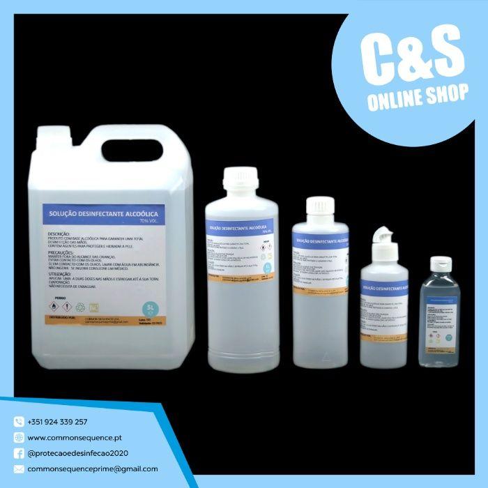 Solução Desinfetante Alcoólica 70% Apúlia E Fão - imagem 1