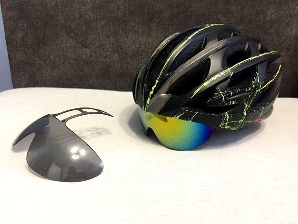 Kask rowerowy z okularami RockBros LEKKI Ultralight + zamienne szkło