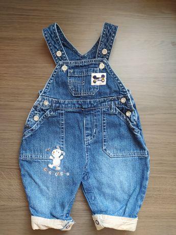 Детский джинсовый комбинезон для самых маленьких