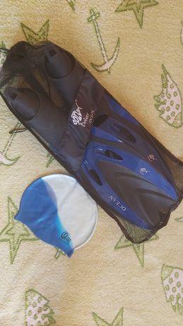 Ласты для спортивного плавания и шапочка в подарок
