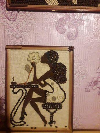 Картина з кавових зерен