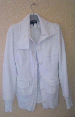 Пальто полупальто кашемировое белое Ска