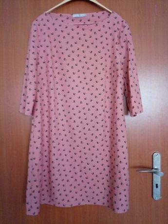 Sukienka trapezowa w łabędziątka roz. 46
