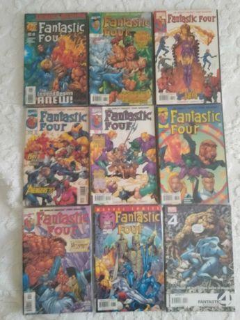Coleções Fantastic Four (comics e livros em inglês)