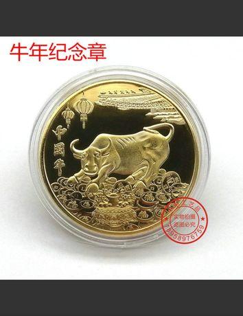 Монета Бык сувенирная символ 2021года  бычок фен шуй