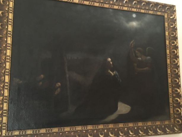 Quadro óleo sobre tela antigo