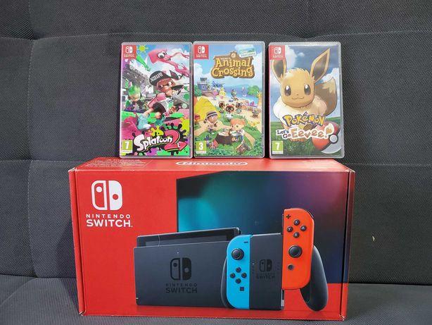 Nintendo Switch V2 /Komplet/SUPER GRY/super dodatki/gwarancja