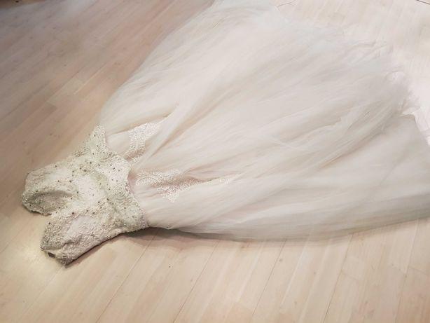 S,M - suknia ślubna suknia do ślubu seksowna tiulowa balowa 985