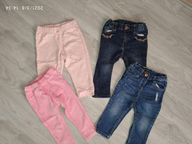 Spodnie dziecięce dziewczęce 86, h&m c&a