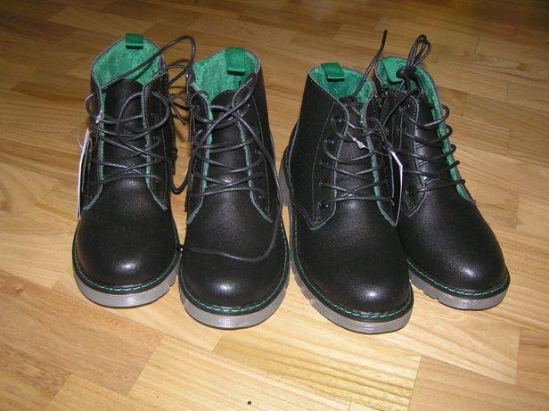Ботинки Reserved кожа для мальчика девочки близнецов