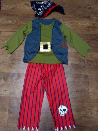 костюм пират 5-6 лет 116 размер мальчику карнавальный длина 50-59 см ш