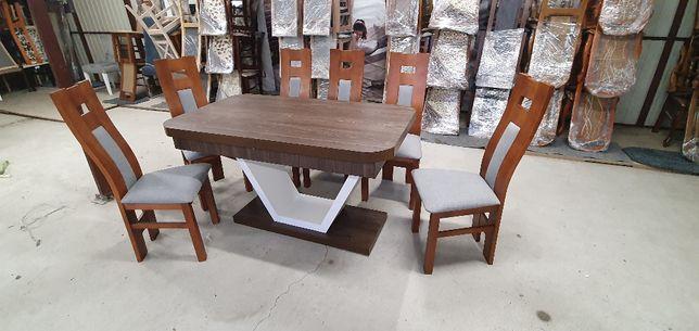 Okazja Stół rozkładany + 6 krzeseł