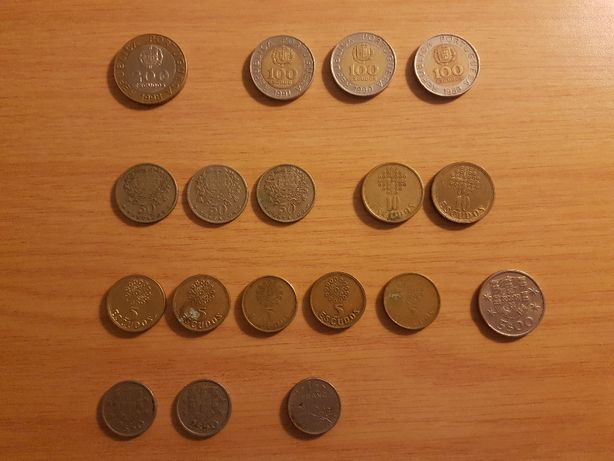 Moedas Antigas de Escudo (2,5 Escudos a 200 Escudos) [1962 a 1998]
