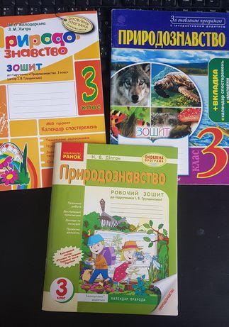 Природознавство робочий зошит 3 клас Грущинська
