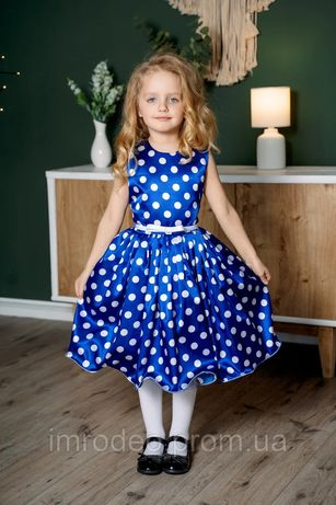 Праздничное платье + ПОДАРОК (ПЕРЧАТКИ) для девочки 5-8 лет