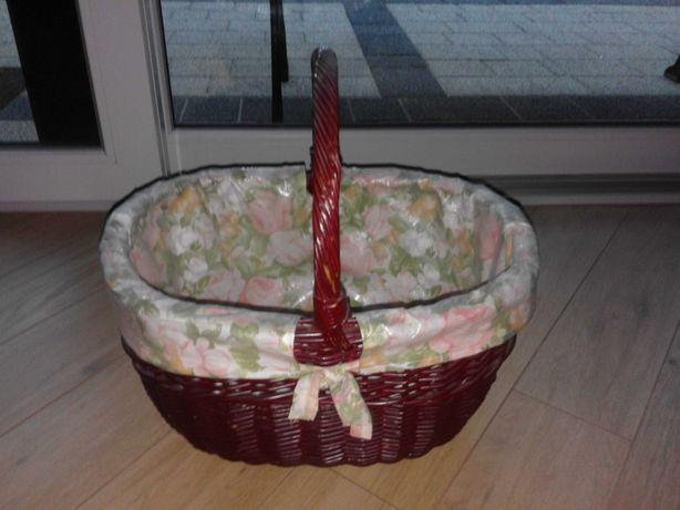 kosz wiklinowy piknikowy