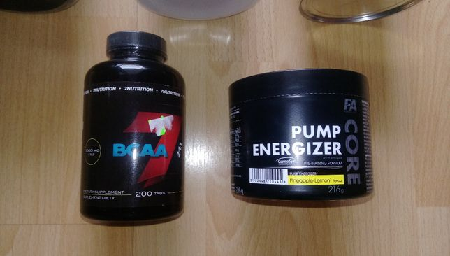 Nowe, oryginalne 7Nutrition BCAA 2:1:1 i Fitness Authority Pump Core