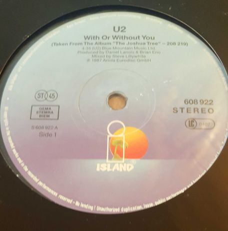 U2	- With Or Without You, maxisingiel 12