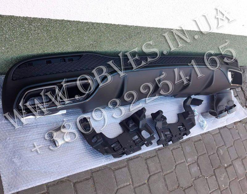 Диффузор заднего бампера Mercedes GLE W166 в стиле GLE63 AMG Луцк - изображение 1