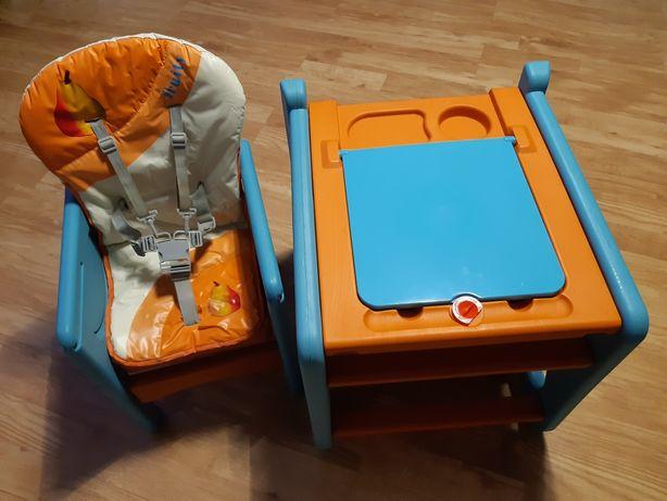 Krzesełko do karmienia ze stolikiem firmy 4baby zestaw 3w1 Fruity