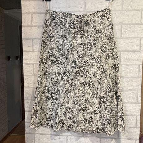 Biała Spodnica we wzorki streetwear vintage