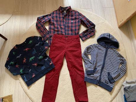 Zestaw spodnie i bluzy 134 reserved zara gap hmtchibo
