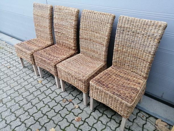 Krzesła z abaki 4 szt komplet Ikea
