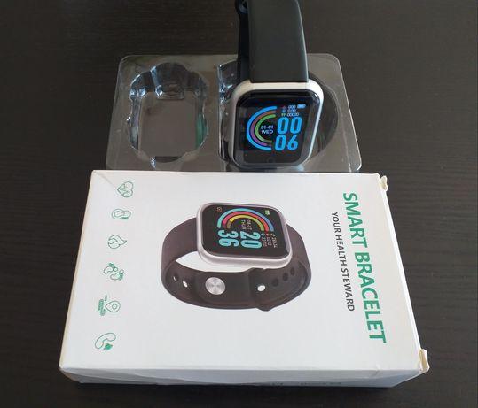 Smartwatch Y68 inteligente monitor de pressão arterial