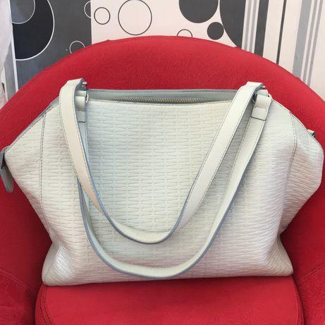 Кожаная голубая сумка Vif Bagsetc