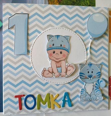 Kartka ręcznie robione urodzinowa dla dziecka dowolna cyfra