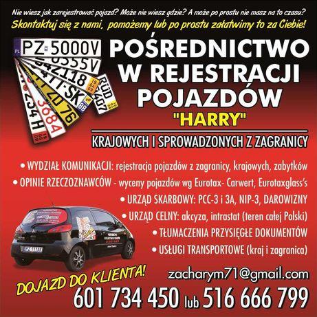 Rejestracja Pojazdów HARRY Oborniki Rogoźno Murowana Goślina Poznań