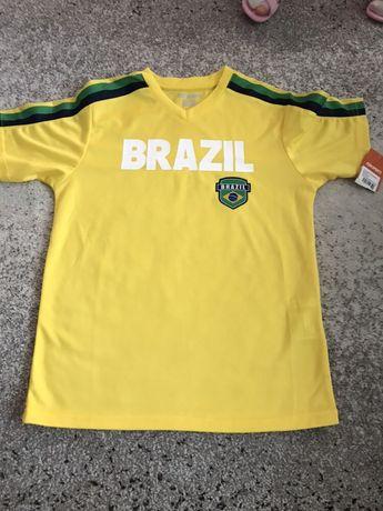 NOWA Koszulka piłkarska, sportowa BRAZIL r. 146cm