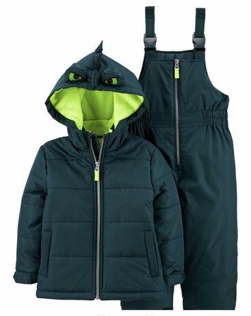 Зимний комплект Carters  2t,дракоша,куртка и штаны, комбинезон НОВЫЙ